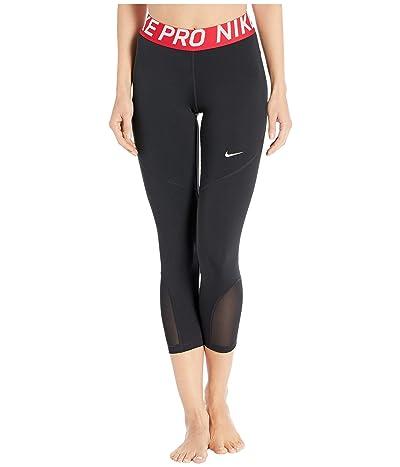 Nike Pro Crop Tights (Black/Gym Red/White) Women