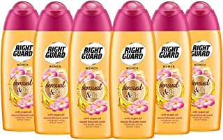 Right Guard Women Shower Gel, Floral Scent with Argan Oil Body Wash, Multipack 6 x 250 ml