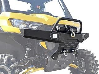 SuperATV Heavy Duty Diamond Plate Front Winch Bumper for Can-Am Defender (2016-2019)