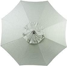Bayside-21 9 ft Patio Umbrella Replacement Market Table Outdoor Umbrella Canopy Sunbrella Fabric Umbrella Top Only 8 Ribs (Spa Stripe)