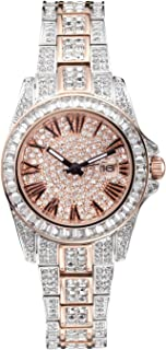 Valentine's Day Present Princess Butterfly Lady Watch Full of Austria Crystal HL584DB Bicolor
