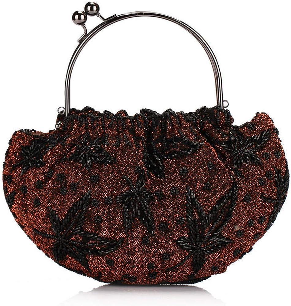 Yonger Vintage Small Bag Clutch Handle Handbags Evening Bags Beaded Purse Wallet