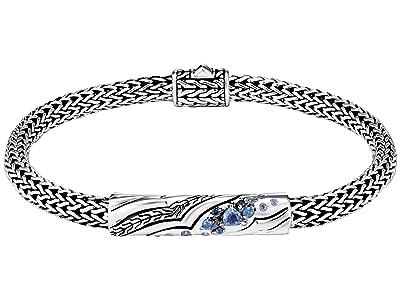 John Hardy Lahar Station Bracelet with Blue Sapphire (Sterling Silver) Bracelet