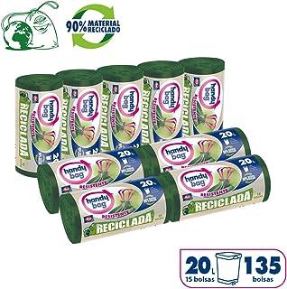Handy Bag Bolsas de Basura 20L, 90% Reciclado, Extra