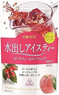 日東紅茶 水出しアイスティー ピーチティー&ローズヒップ TB 500ml×12袋入×6袋
