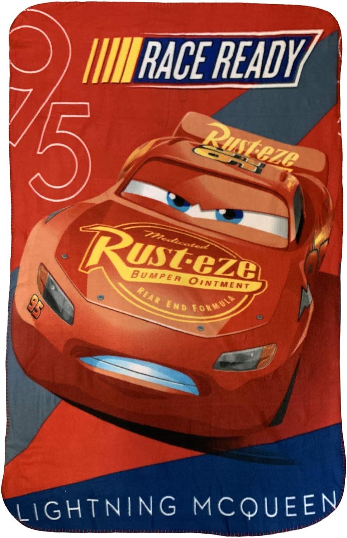 McQueen Cars Boy's Disney Race Fleece Throw Blanket High quality [Alternative dealer] Ready 4