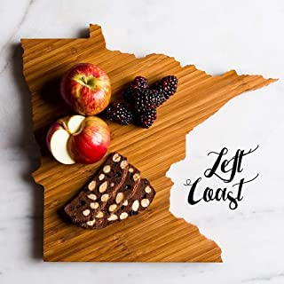 Personalized Minnesota State Shaped Cutting Board by Left Coast Original