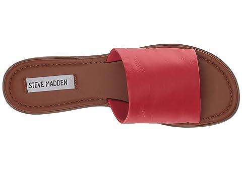 Madden Sandal Steve Flat Leather Camilla Black POf8qdKw