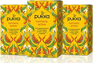 Sponsored Ad - Pukka Herbs Turmeric Active, Organic Herbal Tea With Ginger & Galangal (3 Pack, 60 Tea Bags)