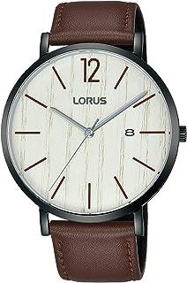 ساعة لوروس للرجال كوارتز انالوج بعقارب وسوار جلد RH999MX9