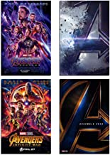 Marvel Avengers Wall Art Poster - Canvas Wall Decoration Superhero Print of Avengers Endgame Pictures/The Infinite War Mov...