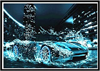 5D Diamantmålningssatser För Vuxna Barn_Sportbil 40X50Cm_Full Drill Diy Diamond Art Broderifärg Av Siffror Med Diamanter