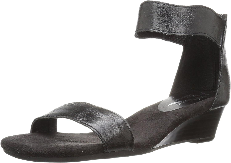 Aerosoles A2 Women's Yet Around Wedge Sandal Black