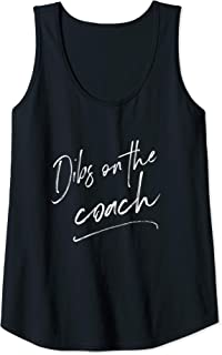 Womens Dibs On The Coach Shirt for Coach's Wife Funny Baseball Tank Top