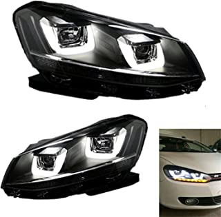 JDMSPEED New Led DRL Headlights Lamps For VW Volkswagen Golf MK6 GTI 2008-2014 Assembly