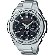 Casio Men's G Shock Quartz Watch with Stainless-Steel Strap, Silver, 25.85 (Model: GST-S110D-1ACR)