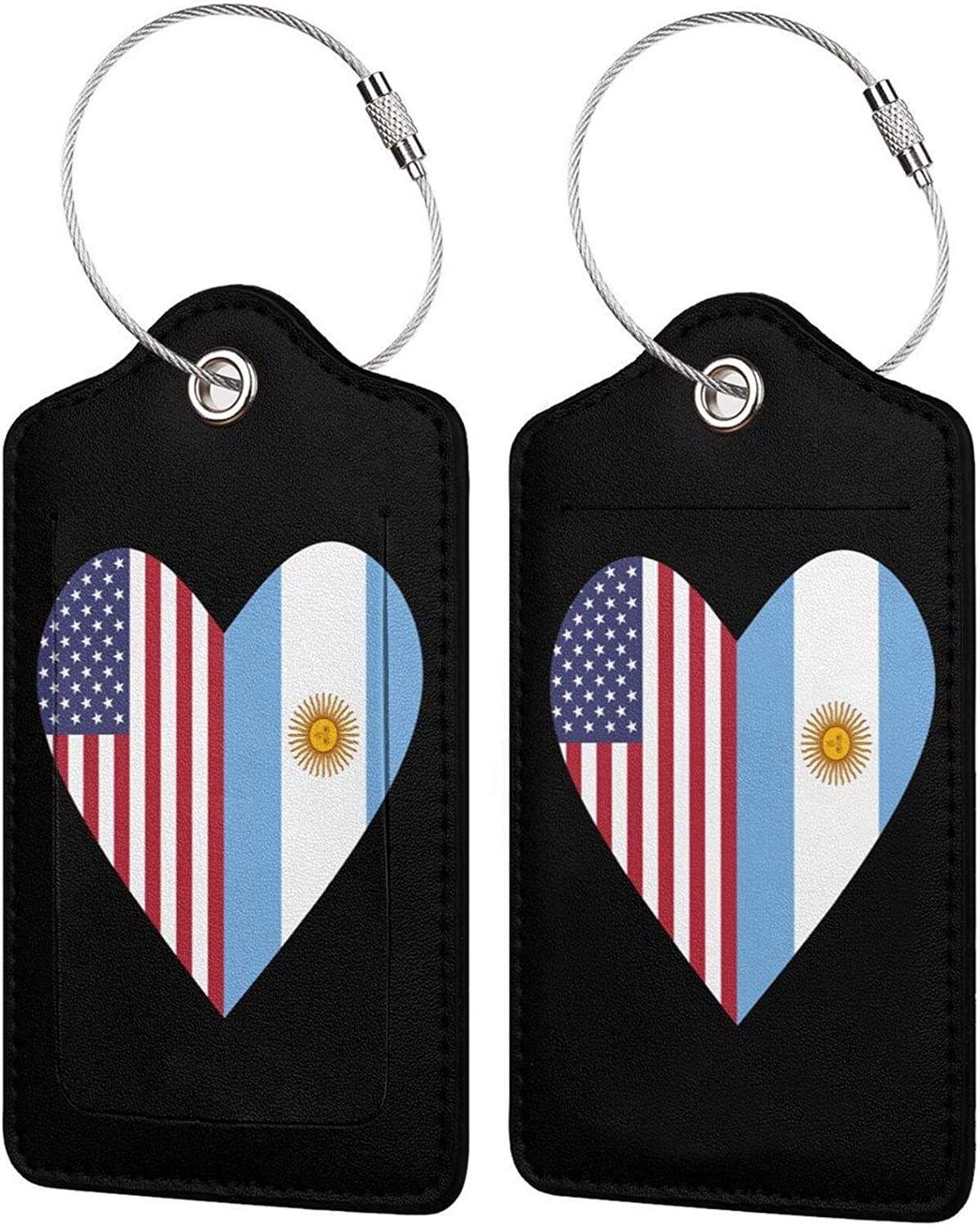 Half Argentina High material Flag USA Love Travel L PU Free shipping on posting reviews Leather Heart