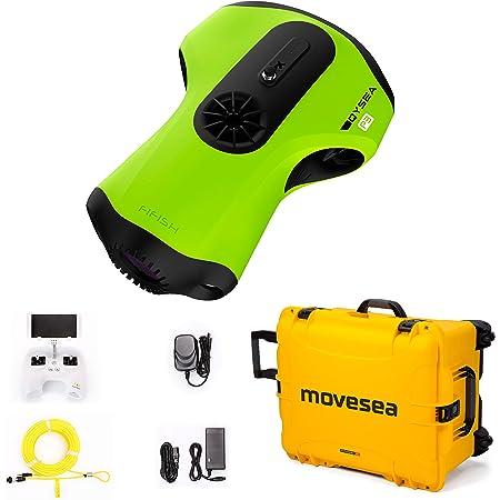 Fifish Unterwasserdrohne P3 100 M Kabel 32 Gb Remote 2 Ladegeräte Gelb Koffer Mit Rädern Qysea 847418 Sport Freizeit