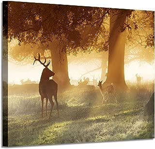 rustic deer painting