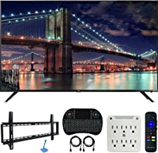 $930 » TCL 65R617 65-inch Class 6-Series 4K HDR Roku Smart TV (2018 Model) Bundle with 37-70-inch Low Profile Wall Mount Kit, Deco Gear Wireless Keyboard and 6-Outlet Surge Adapter with Night Light