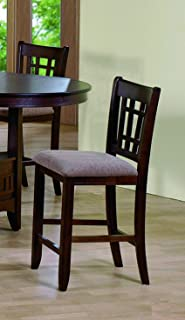 Mission Counter Height Chair 24''H (Set of 2) by Crown Mark