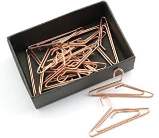 NX Garden Paper Clips 12PCS Hanger Shape Golden Note Clips Photo Sign Clips Metal WireBookmark Clips for Home and Office