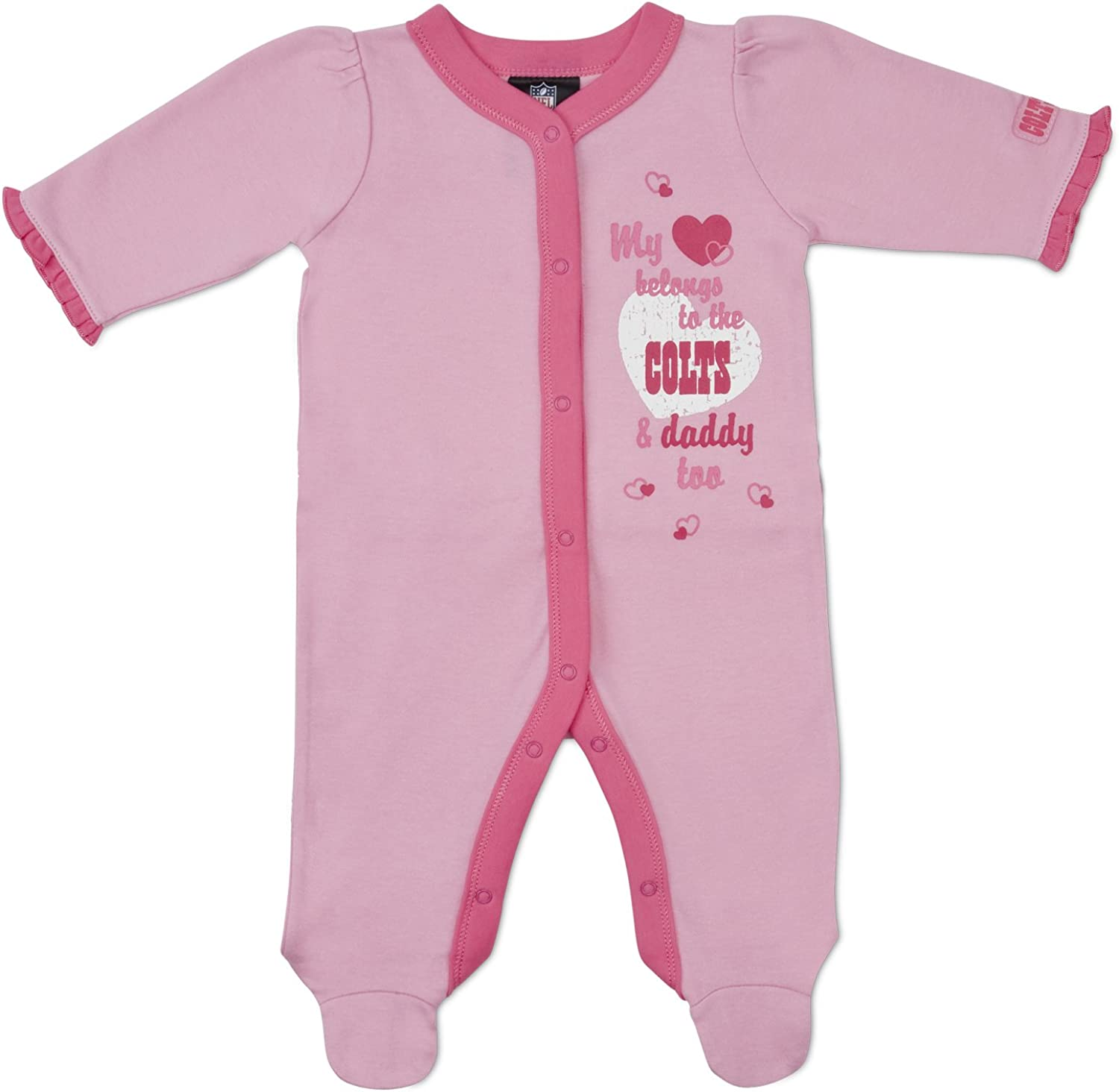 NFL Industry All stores are sold No. 1 Indianapolis Colt Infant Bodysuit Sleep-N-Play