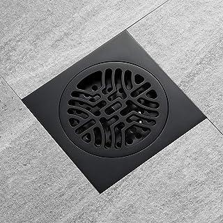 AXWT Athroom Floor Drain Black Brass Baño Baño Drenaje del Piso Desodorante Core Balcón Tome una Ducha Baño Drenaje del Piso