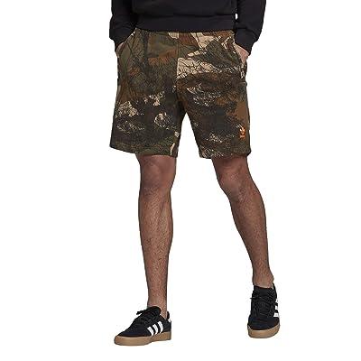 adidas Originals Camo All Over Print Shorts (Hemp/Brown Oxide/Earth Green/App Signal Orange) Men