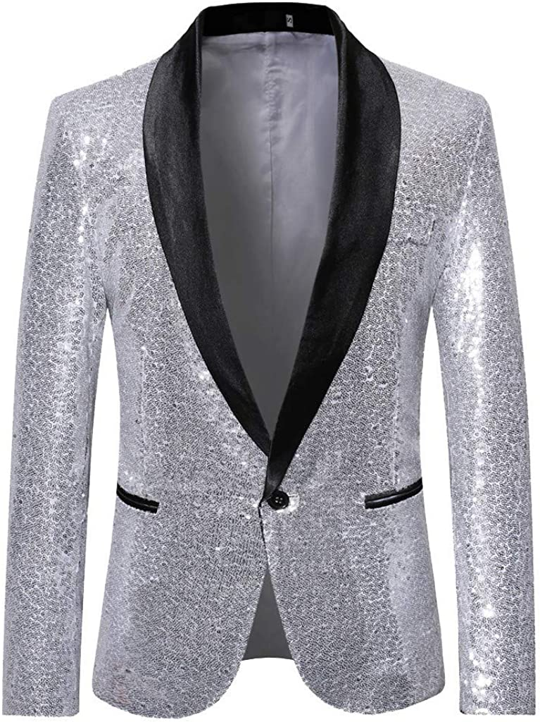 Men's Blazer Stylish Casual Long Sleeve Suit for Formal Business Wedding Party Jacket