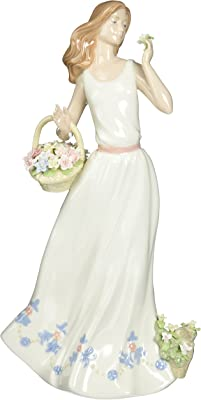 Cosmos 10402 Breezy Spring Time Lady Ceramic Figurine, 12-3/4-Inch