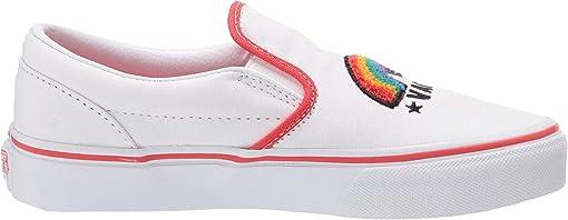 (Chenille) Rainbow/True White