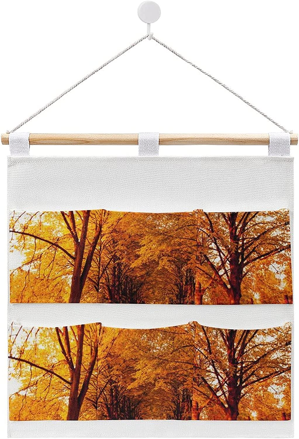 Autumn Landscape Background Hanging cotton and linen storage Recommended Gifts bag