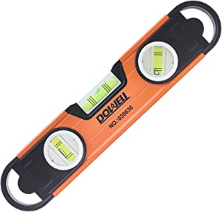 """DOWELL Magnetic Level Torpedo Level 11"""" Box Spirit Bubble Level Shockproof Top Vial Alloy Frame 180 90 45 Degree HY030636"""