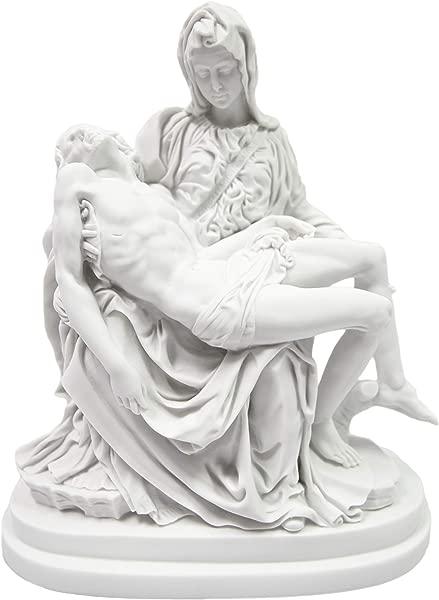 Vittoria Collection 13 Inch La Pieta By Michelangelo Jesus Mary Italian Statue Sculpture Figurine Made In Italy Indoor Outdoor Garden