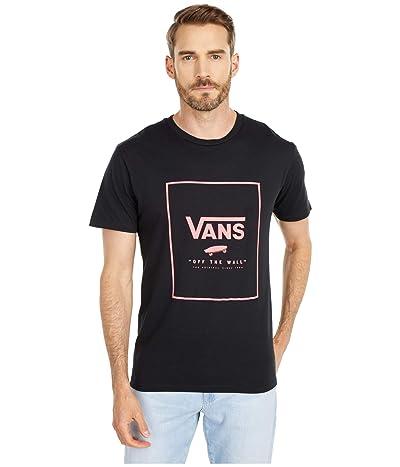 Vans Print Box Tee ((Zebra) Black/Calypso Coral) Men