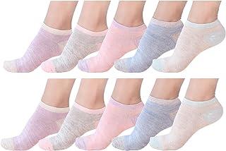 Eabern 10 Pair or 12 Pair Women's Cotton Sneaker Low Cut Ankle Socks