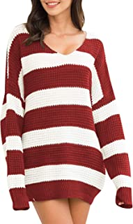 Best burgundy striped sweater Reviews