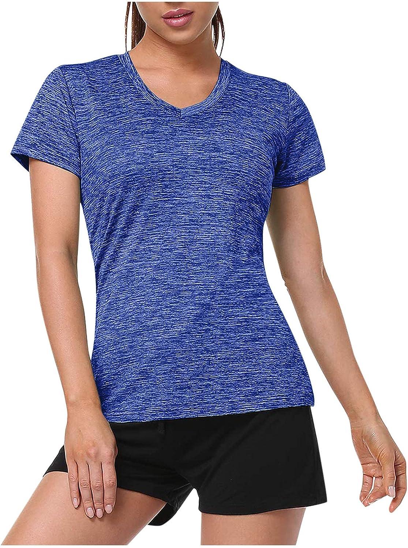Activewear Ranking TOP20 Tops Great interest for Women Short Sleeve Wo Running Crewneck Shirt