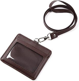 モノボックスジャパン 牛革 IDカードホルダー ネックストラップ ポケット2か所 安全装置 強化フィルム 軽量モデル パスケース 1name-mono3