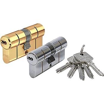 longitud: 40//60 mm con tarjeta de seguridad C = 100 mm ABUS Bravus.2000 equipamiento adicional: funci/ón de emergencia y peligro Bomb/ín cil/índrico doble con 10 llaves