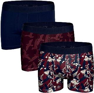 John Frank Men's -Navy Boxers 3 Pack