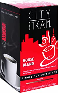 City Steam 17535 House Blend Single Cup Coffee Pods, 18-count