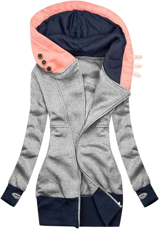Evangelia.YM Women's Fleeve Winter Jackets Color Solid Credence Fresno Mall Bloc Coat