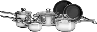 Amazon.com: Freedom Stainless Steel Silver Kitchen Cookware ...