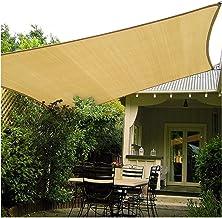 LIXIONG Sunblock Shading Net, Rechthoek HDPE Light Filter Luifel, Winddicht 95% UV Block Sun Sail Shade voor Outdoor Patio...