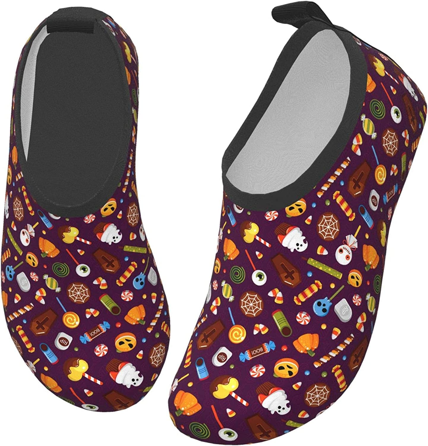 Pumpkin Ghost Halloween Horror Children's Water Shoes Feel Barefoot for Swimming Beach Boating Surfing Yoga