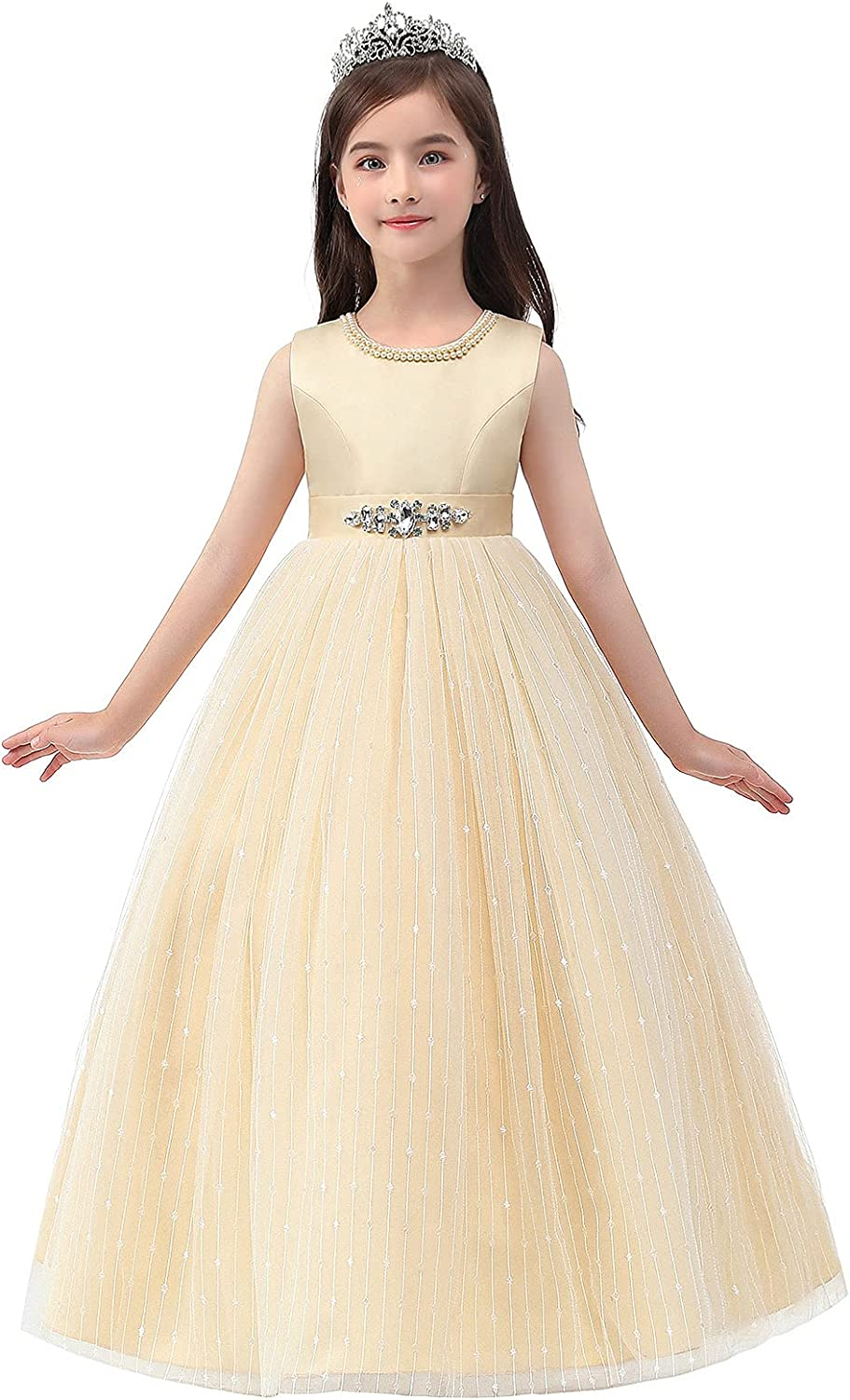 Girls Dress Party Bargain for Quality inspection Priness Length Cute Knee
