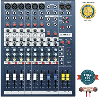 Soundcraft EPM6 High-Performance 6-channel Audio Mixer includes Free Wireless Earbuds - Stereo Bluetooth In-ear and 1 Year Everything Music Extended Warranty