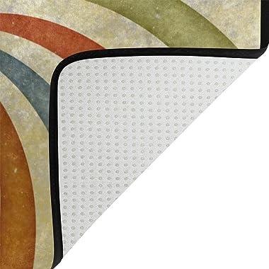MASSIKOA Swirl Non Slip Backing Entrance Mat Floor Mat Rug Indoor Outdoor Front Door Bathroom Mats 23.6 x 15.7 inch